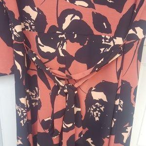 503ba420051 Du Jour Dresses - Floral 3 4th sleeve maxi dress Marsala from QVC